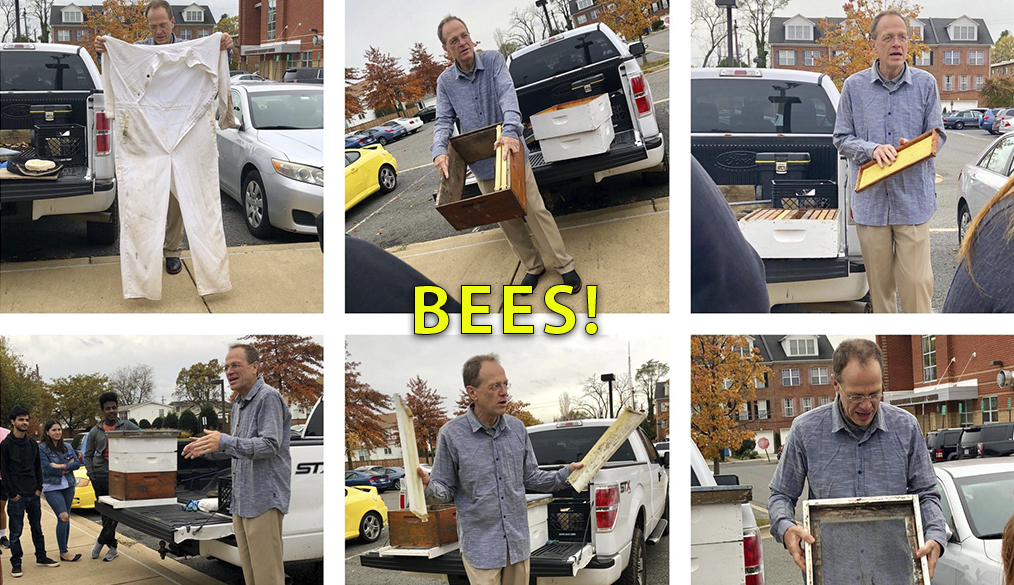 Dr. Murphy talks bees with Langston's Environmental Science class!